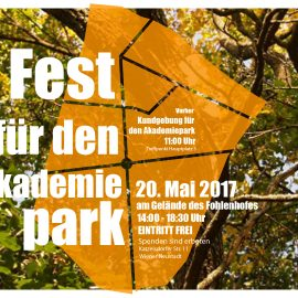 Einladung zum Fest für den Akademiepark