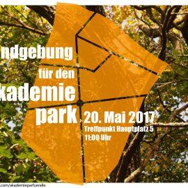 Einladung zur Kundgebung für den Akademiepark