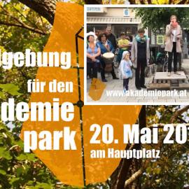 Kundgebung für den Akademiepark – Ansprachen