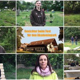 Gesichter für den Akademiepark – Beim Fest für den Akadmiepark