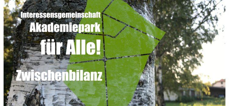 Zwischenbericht der IG Akademiepark für Alle
