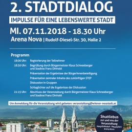 Erinnerung, Einladung und Information zum 2. Stadtdialog
